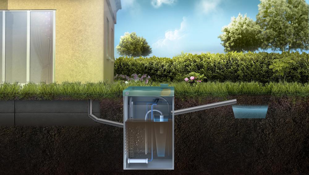 Отвод очищенной воды из ТОПАС в ливневую канаву
