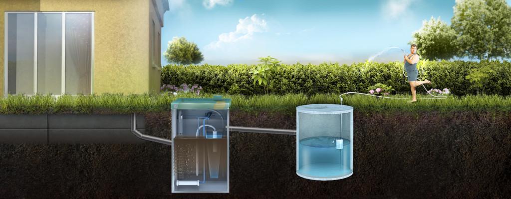 Отвод очищенной воды из ТОПАС в накопительный резервуар