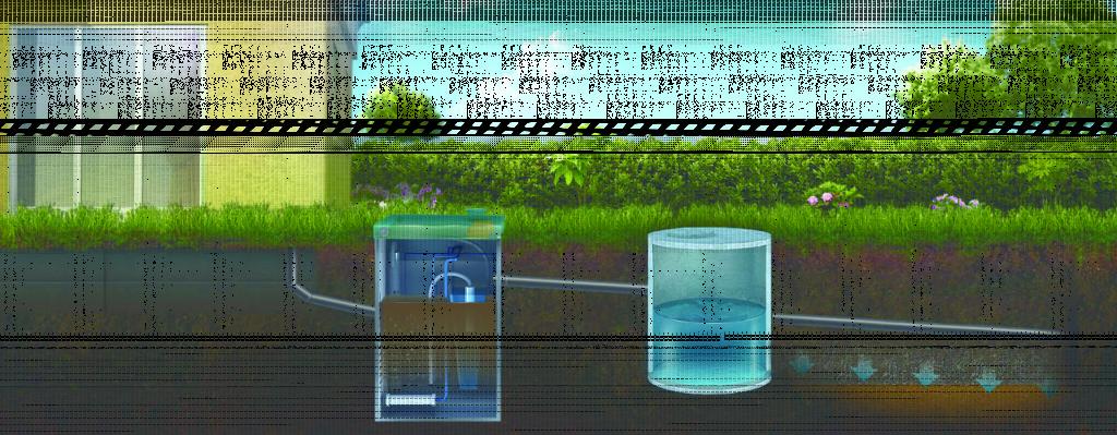 Отвод очищенной воды в на поле фильтрации или в дренаж